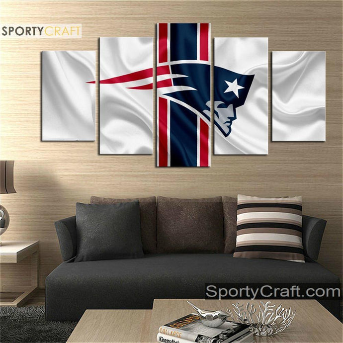 New England Patriots Fabric Flag Canvas