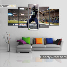 Load image into Gallery viewer, Seattle Sea Hawks Kam Chancellor 5 Pieces Canvas