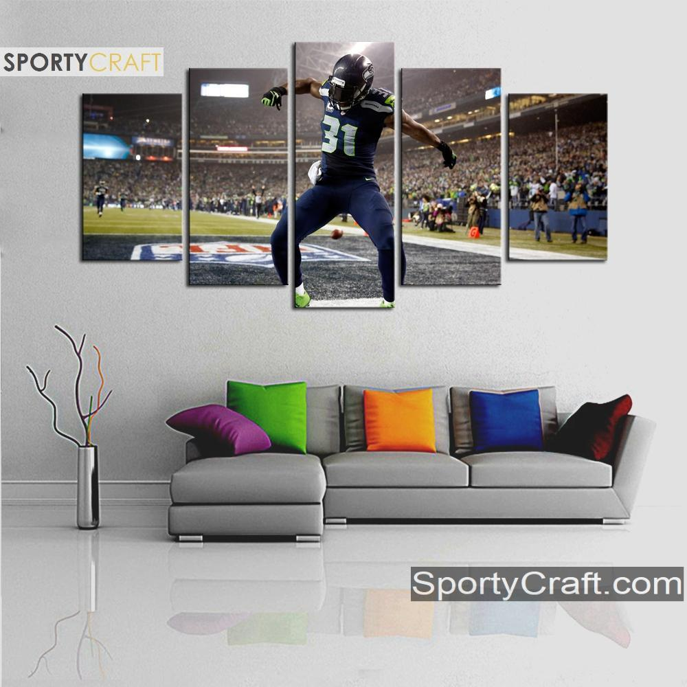 Seattle Sea Hawks Kam Chancellor 5 Pieces Canvas