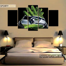 Load image into Gallery viewer, Seattle Sea Hawks Gloves 5 Pieces Canvas Canvas 1