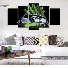 Load image into Gallery viewer, Seattle Sea Hawks Gloves 5 Pieces Canvas Canvas