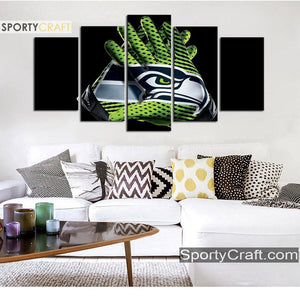 Seattle Sea Hawks Gloves 5 Pieces Canvas Canvas