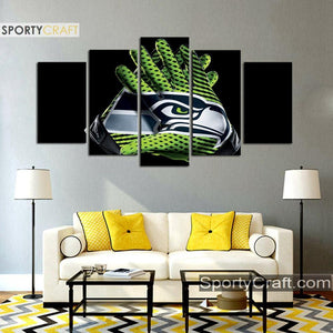 Seattle Sea Hawks Gloves 5 Pieces Canvas Canvas 2