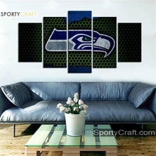 Load image into Gallery viewer, Seattle Seattle Sea Hawks Steal Style 5 Pieces Canvas Canvas