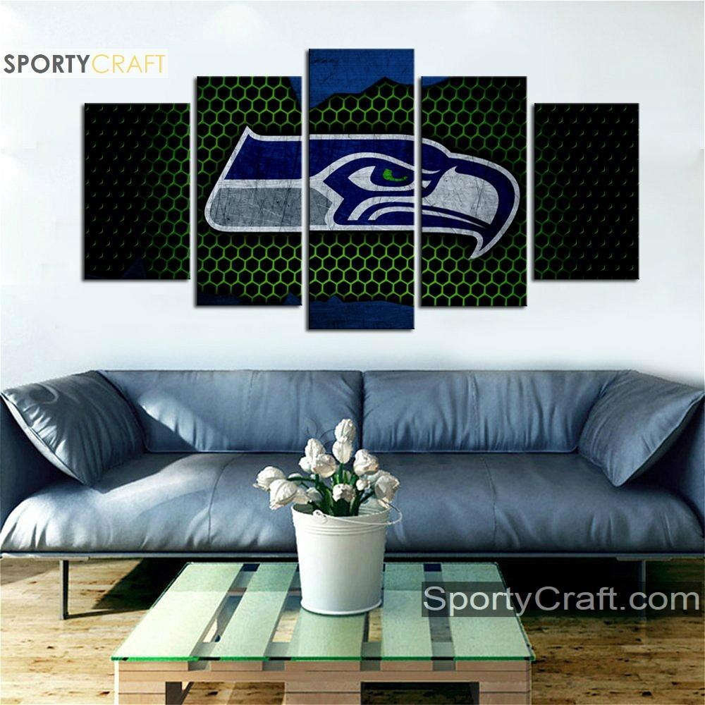 Seattle Seattle Sea Hawks Steal Style 5 Pieces Canvas Canvas