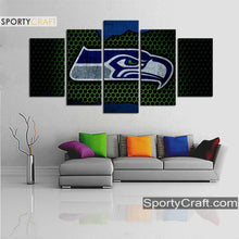 Load image into Gallery viewer, Seattle Seattle Sea Hawks Steal Style 5 Pieces Canvas Canvas 2