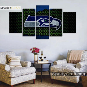 Seattle Seattle Sea Hawks Steal Style 5 Pieces Canvas Canvas 1