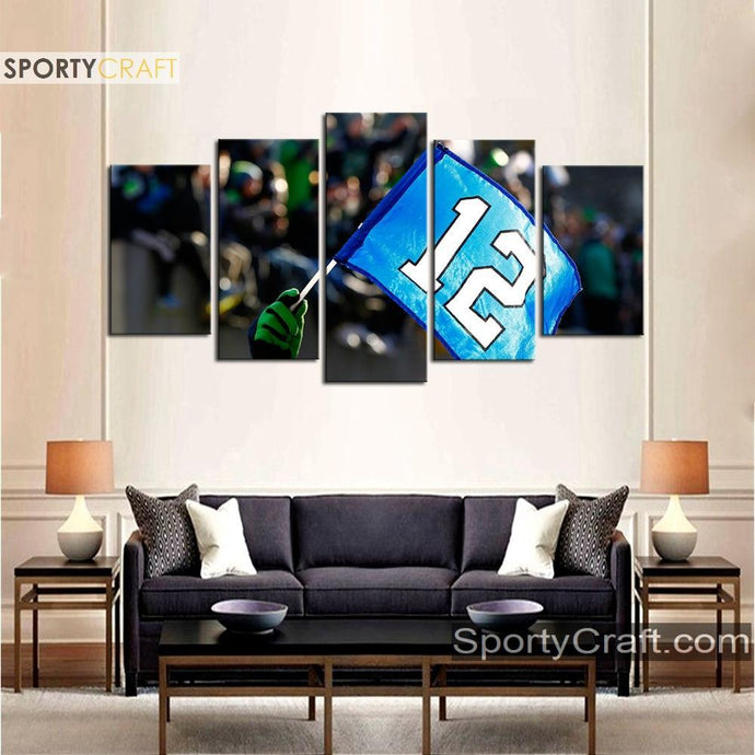 Seattle Sea Hawks 12 5 Pieces Canvas Canvas