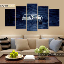 Load image into Gallery viewer, Seattle Sea Hawks Wooden 5 Pieces Canvas Canvas 1