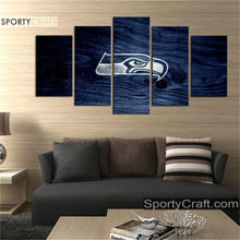 Load image into Gallery viewer, Seattle Sea Hawks Wooden 5 Pieces Canvas Canvas