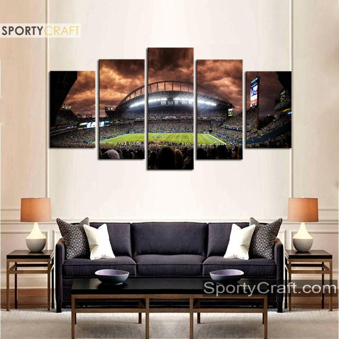 Seattle Seahawk Stadium Wall Art Canvas