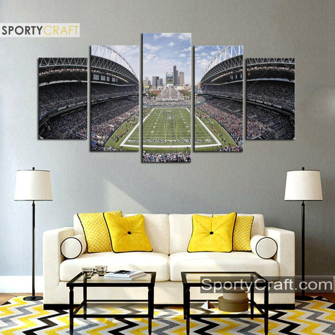 Seattle Sea Hawks Stadium 5 Pieces Canvas 1