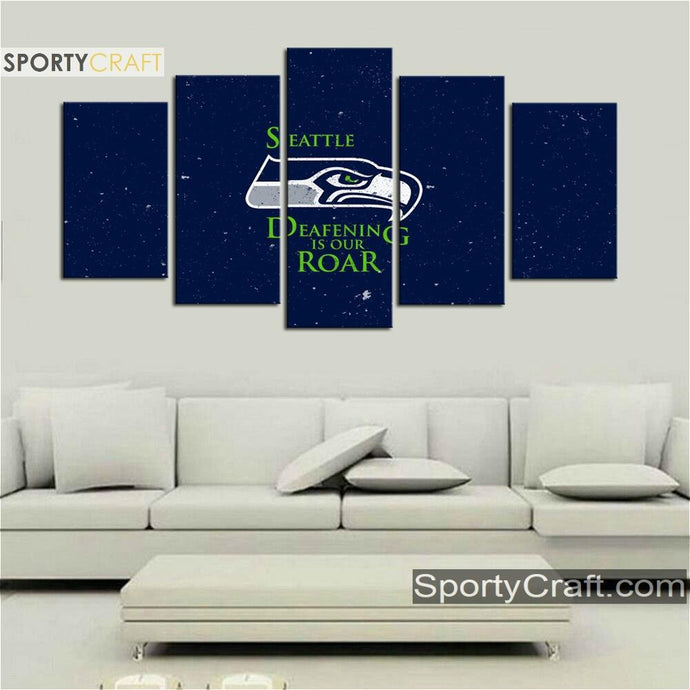 Seattle Sea Hawks Roar 5 Pieces Canvas Canvas