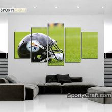 Load image into Gallery viewer, Pittsburgh Steelers Helmet Wall Canvas