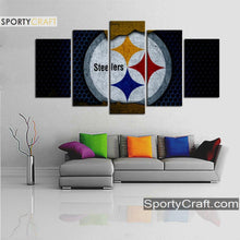 Load image into Gallery viewer, Pittsburgh Steelers Metal Style Canvas