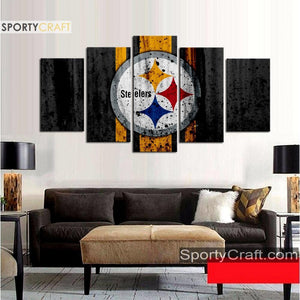 Pittsburgh Steelers Rough Style Canvas