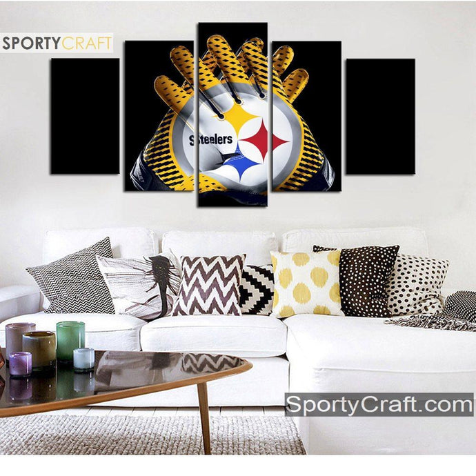 Pittsburgh Steelers Gloves Canvas