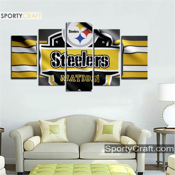 Pittsburgh Steelers Fabric Art Canvas