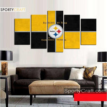Load image into Gallery viewer, Pittsburgh Steelers Wall Canvas