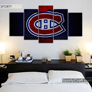 Montreal Canadiens Steel Style Canvas