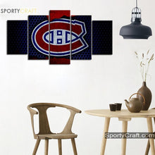 Load image into Gallery viewer, Montreal Canadiens Steel Style Canvas