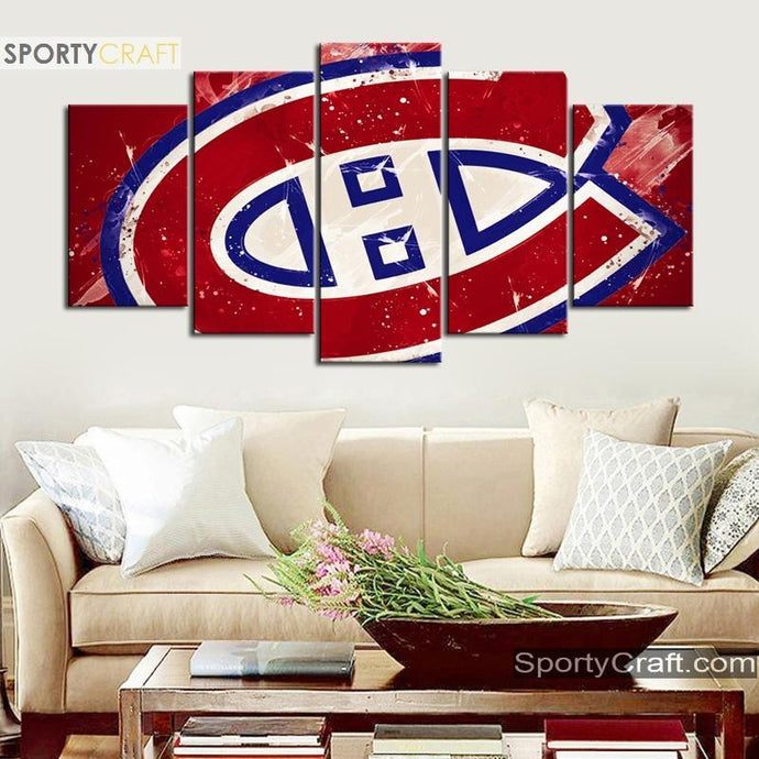 Montreal Canadiens Paint Style Canvas