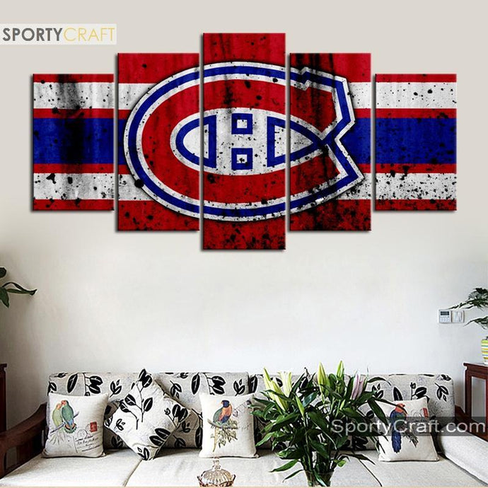 Montreal Canadiens Rough Style Canvas