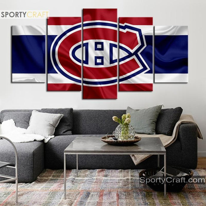 Montreal Canadiens Fabric Style Canvas