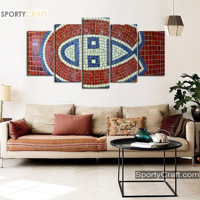 Montreal Canadiens Stone Tiles Canvas