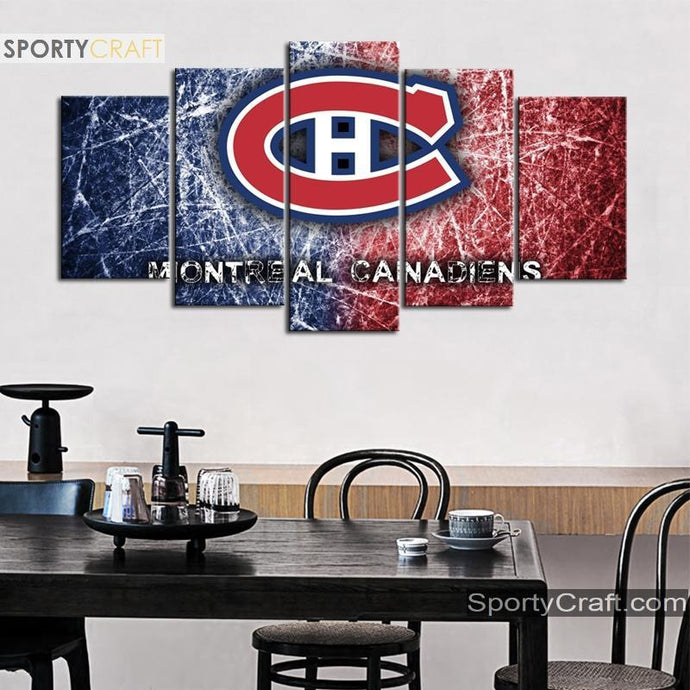 Montreal Canadiens Scratchy Canvas