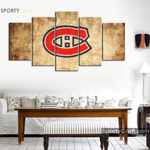 Load image into Gallery viewer, Montreal Canadiens Burned Style Canvas