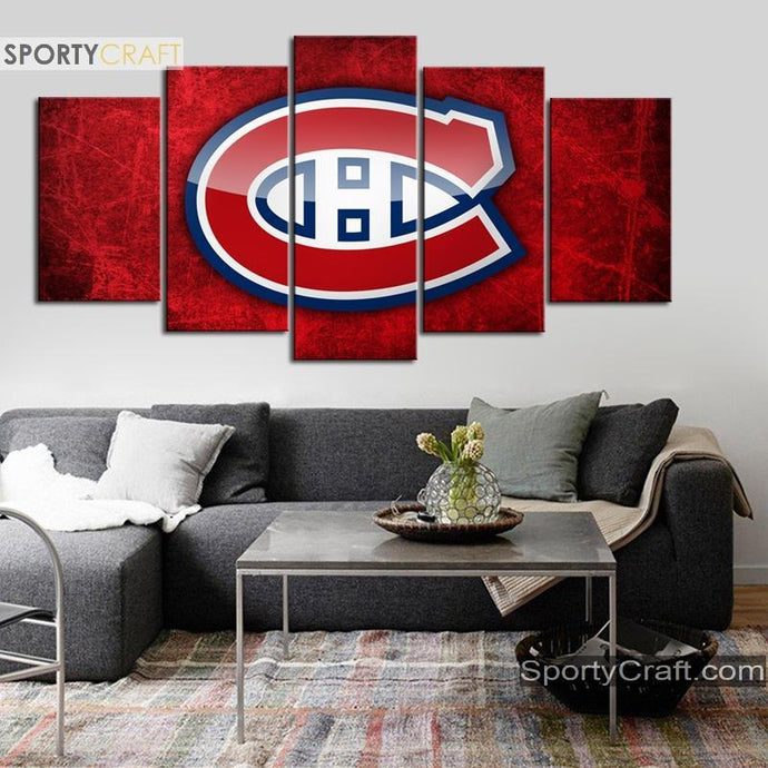 Montreal Canadiens Reddish Canvas