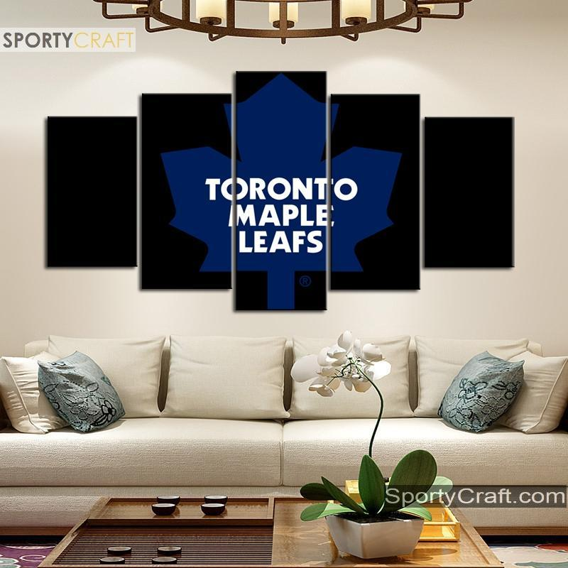 Toronto Maple Leafs Simple 5 Pieces Art Canvas