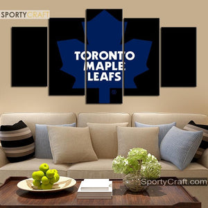 Toronto Maple Leafs Simple 5 Pieces Art Canvas 1