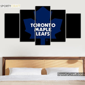 Toronto Maple Leafs Simple 5 Pieces Art Canvas 2