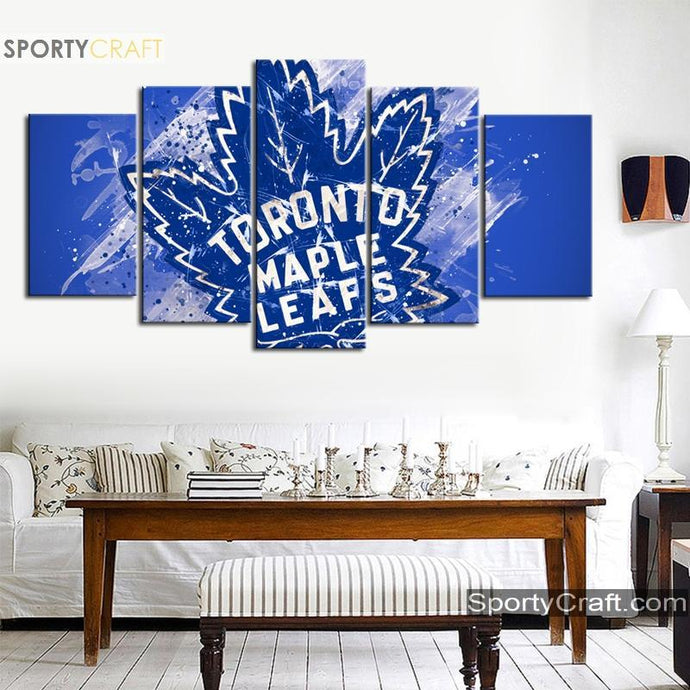 Toronto Maple Leafs Ice Art 5 Pieces Art Canvas