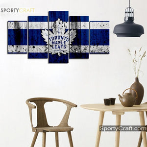 Toronto Maple Leafs Rough Canvas