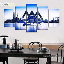 Load image into Gallery viewer, Toronto Maple Leafs City 5 Pieces Art Canvas