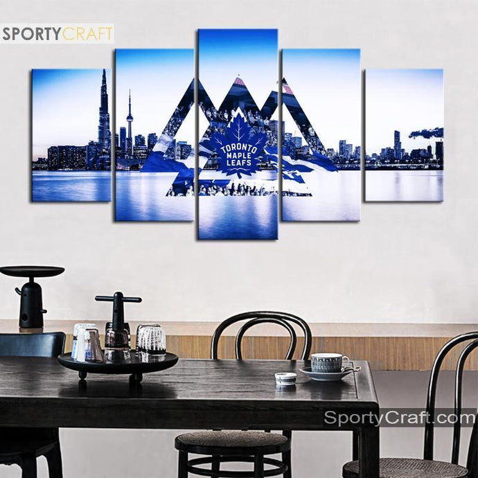 Toronto Maple Leafs City 5 Pieces Art Canvas