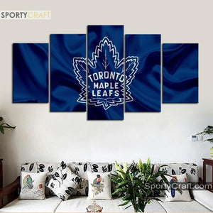 Toronto Maple Leafs Fabric 5 Pieces Art Canvas 1