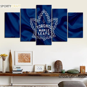 Toronto Maple Leafs Fabric 5 Pieces Art Canvas 2