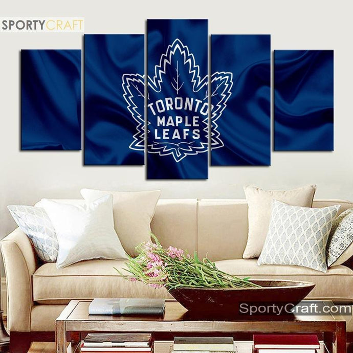 Toronto Maple Leafs Fabric 5 Pieces Art Canvas