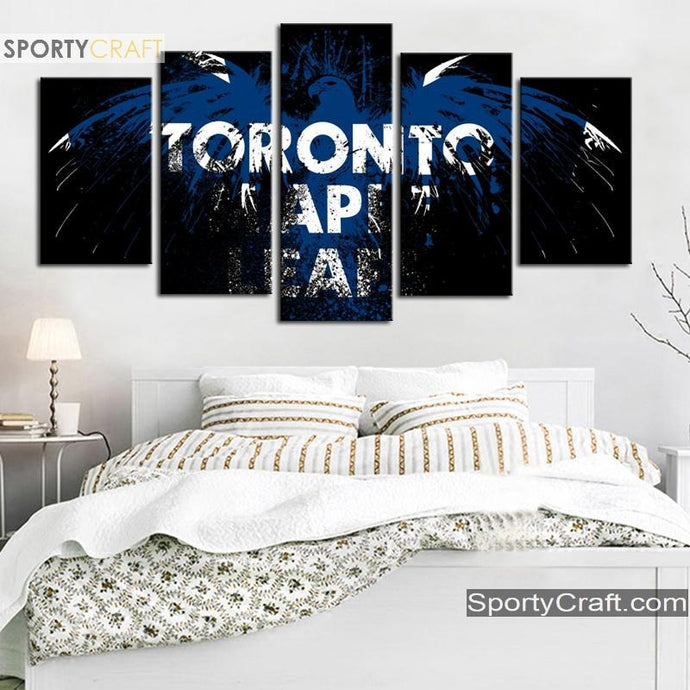Toronto Maple Leafs Fly Bird 5 Pieces Painting Canvas
