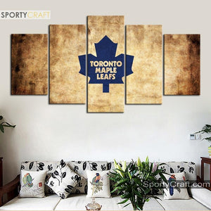 Toronto Maple Leafs Burned 5 Pieces Painting Canvas 1