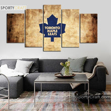 Load image into Gallery viewer, Toronto Maple Leafs Burned 5 Pieces Painting Canvas 2
