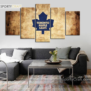 Toronto Maple Leafs Burned 5 Pieces Painting Canvas 2