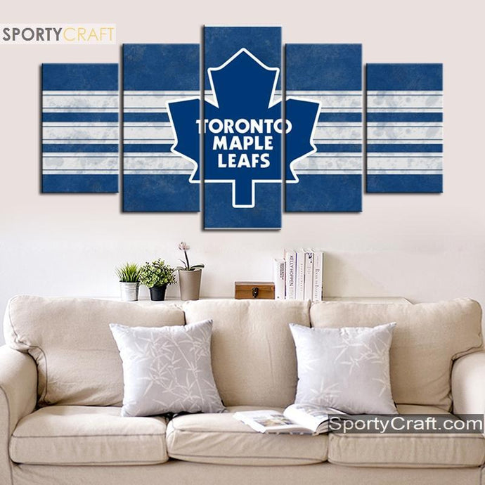 Toronto Maple Leafs Bluish 5 Pieces Painting Canvas