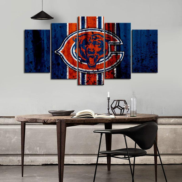 Chicago Bears Rough Style Canvas