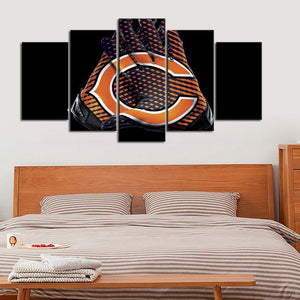 Chicago Bears Gloves Look Canvas