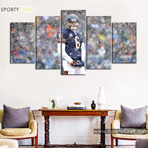 Chicago Bears Number 6 Canvas